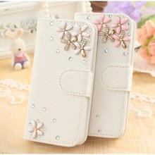DIY Cute Luxury Bling Crystal Diamond Leather Case Cover for Homtom HT3 Case Protective Phone Cover