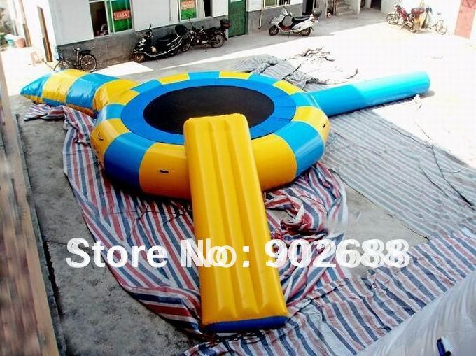2016 New arrvail Dai5M inflatable water trampolin ,Wholesale/retail price,free shipping cost by DHL(China (Mainland))