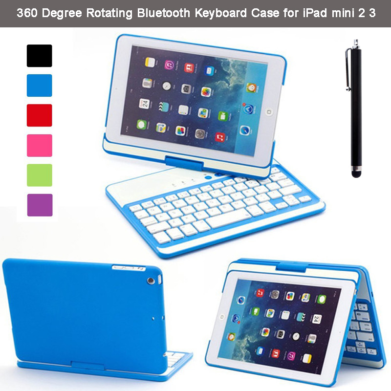 360 Degree Rotating Stylish Slim Folio ClamShell Case Cover Aluminium ABS Wireless Bluetooth Keyboard for Apple iPad Mini 2 3 <br><br>Aliexpress