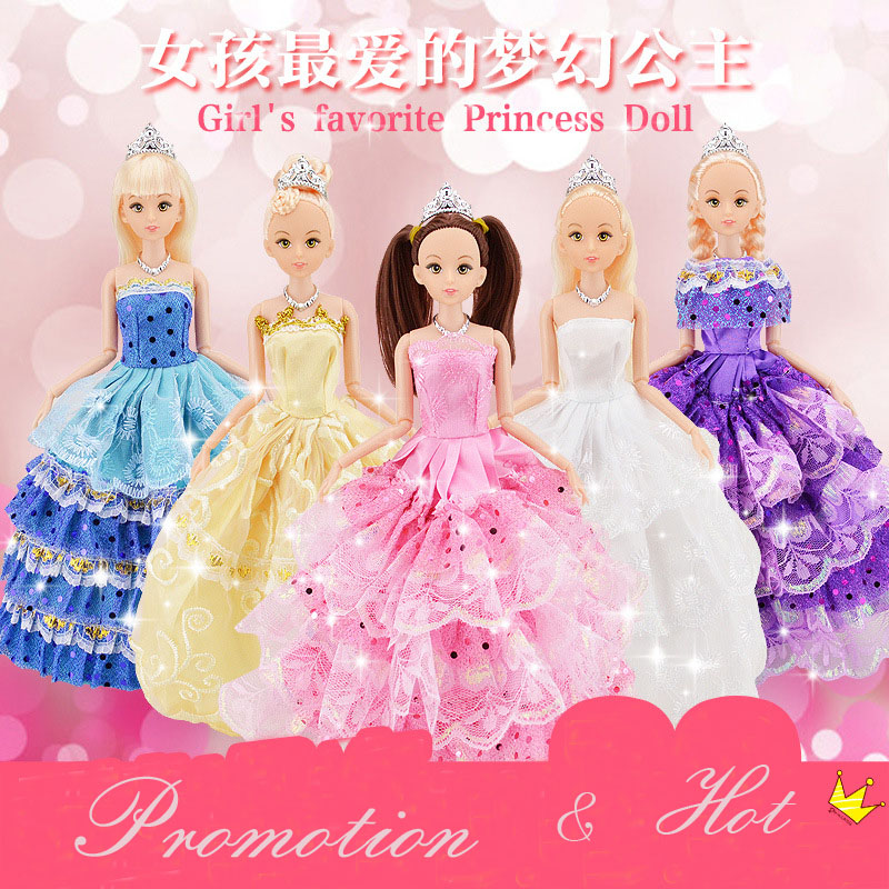 1pc Cute Beautiful Doll Toy Moveable Joint Body Fashion Toys High Quality Girls Plastic Classic Best Gift Figure brinquedo 30cm(China (Mainland))