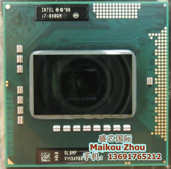 Original Intel CPU Processor Laptop Intel I7-840QM i7-840QM SLBMP I7 840QM 1.86G-3.2G/8M HM57 QM57 chipset 820qm 920xm i7 840QM(China (Mainland))