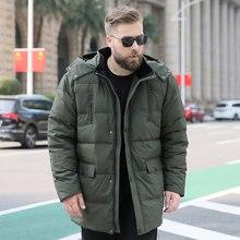 Extra grote size donsjack mannelijke man plus meststof winter nieuwe warm 150kg oversized dikke sectie 10XL 9XL 8XL 7XL 6XL(China)