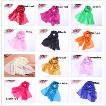 HR53 women scarf fashion pashmina new design long shawl cape silk chiffon tippet muffler echarpes Scarves