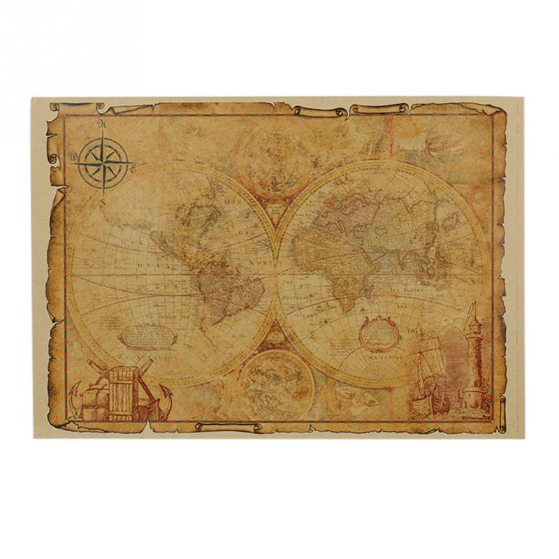Гаджет  Hot 1pcs Large Vintage Style Retro Paper Poster Gifts 32 x 46 cm Globe Old World Map None Офисные и Школьные принадлежности