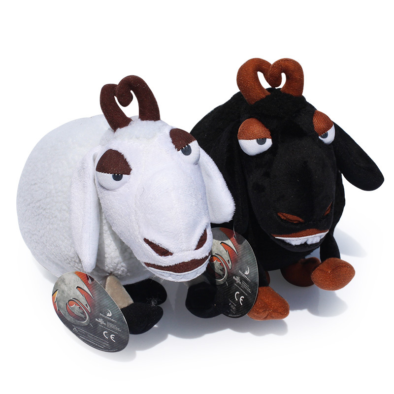 Hot sale How to train your dragon 25cm White Black Sheep Plush Doll With Tag Brinquedos Toys Gift For Kids Free Shipping(China (Mainland))