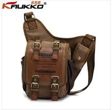 KAUKKO men bag messenger military canvas man brand retro vintage sports crossbody small bags for men tactical rucksack KKK003