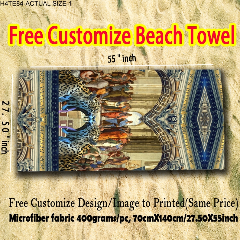 Over-sized Microfiber fabric super absorbent thick high soft fashion one side printed beach towel(China (Mainland))