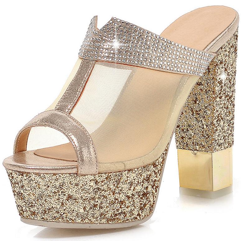 Здесь можно купить  ENMAYER Women Sandals fashion Ankle Straps shoes Sandals Party High-heeled Wedding Sandals Open Peep Toe Platform Sandals hot  Обувь