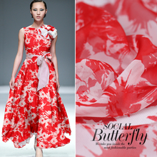 Buy 2017 limited hot sale summer fashion Mulberry silk natural chiffon print fabric dress tissu au meter bright cloth DIY for $16.68 in AliExpress store