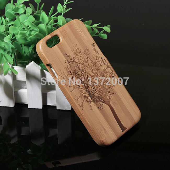 Retail and wholesale Bamboo Case For iPhone 6 Bamboo Case For iPhone 6 back cases 4.7inches back cases for iPhone 6+OEM service(China (Mainland))