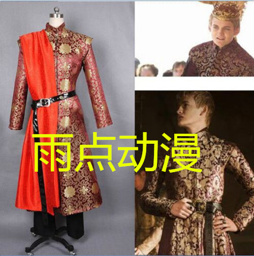 2016 Game of Thrones King Joffery Costume Outfit Prince Costume Adult Mens Halloween Cosplay Costume Plus Size Custom Made