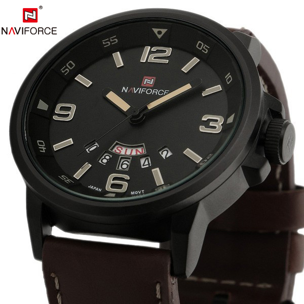 2015 Famous Brand New Man Military Army Leather Strap Clock Male Casual Business Quartz Wrist Watch 2015 Relogio Masculino(China (Mainland))