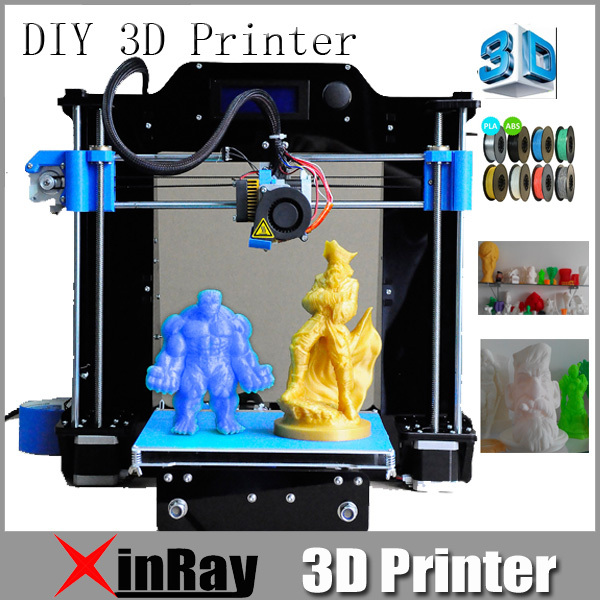 Quality High Precise DIY I3 3D Printer Machine with Color LCD Screen and  Video instruction Convenient to Install 3DPCR3 (China (Mainland))