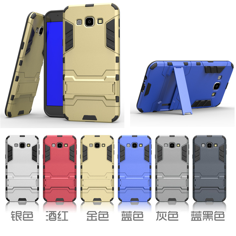 For Samsung Galaxy A8 Case Dual Layer Hybrid Rugged Armor Hard PC+TPU 2 In 1 Shockproof With Kickstand Cover Cases 30pcs