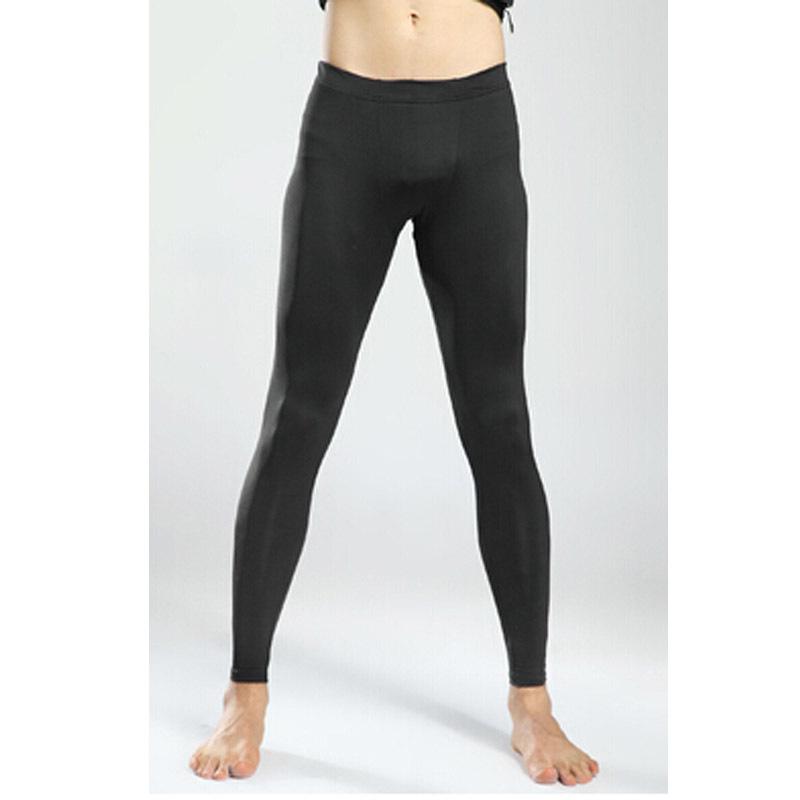 Men tight Pants Joggers Basketball Football Sports Elastic High elastic Pants Fitting Basic Trousers Tackle Thin(China (Mainland))