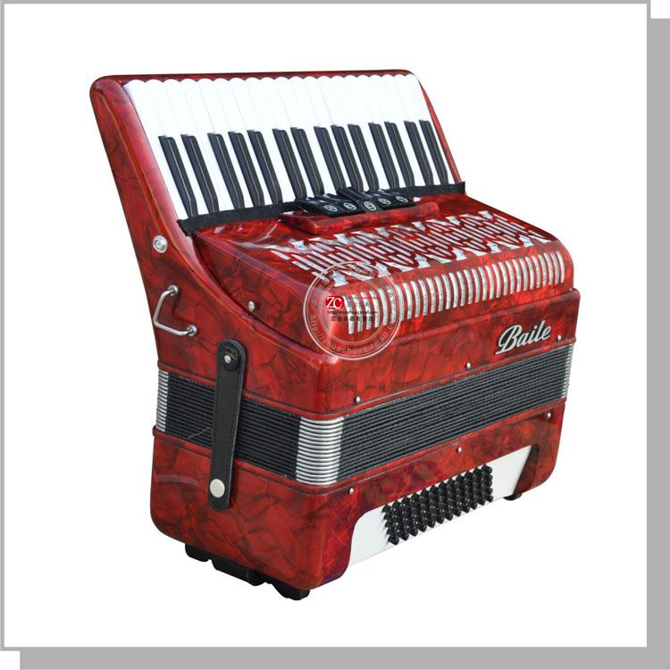 Baile accordion 34 buttons 60 bass accordion Black or Red color<br><br>Aliexpress