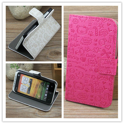For Sony Xperia L S36H C2105 C2104 FreeShipping Kawaii Magic Girl Stand Flip Leather Case with Holder & Credit Card Slots(China (Mainland))