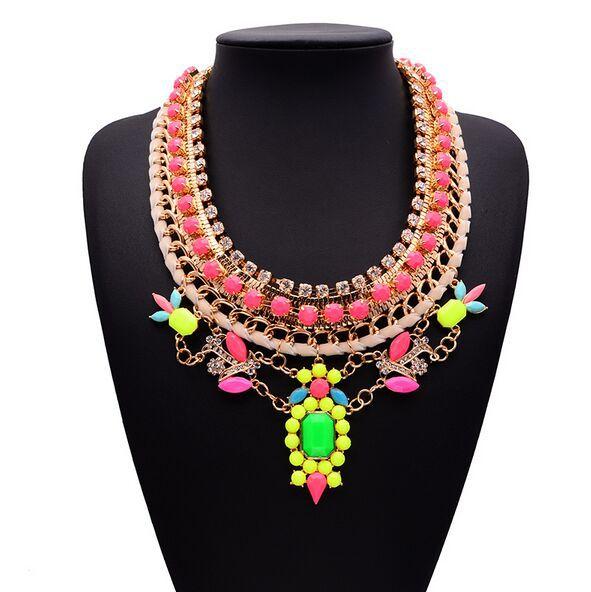 New Luxury Shourouk Brand Necklace Fashion Brunet Department Statement Necklace Choker Crystal Necklaces &amp; Pendants <br><br>Aliexpress