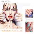 FOCALLURE Nail Gel Polish Temperature Change Colors UV Gel Hot Cold Changing Nice Gel Nail Art