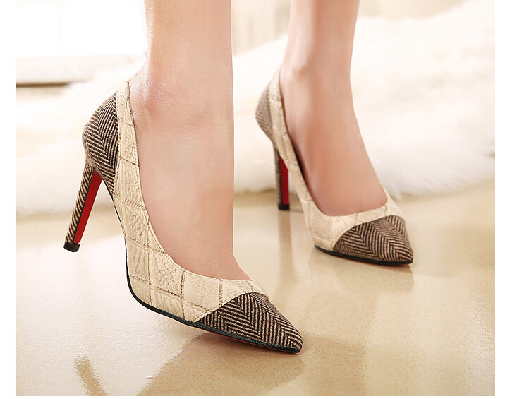 New Heels 2015 New Fashion Work Single Shoes OL Platform High Heels Women