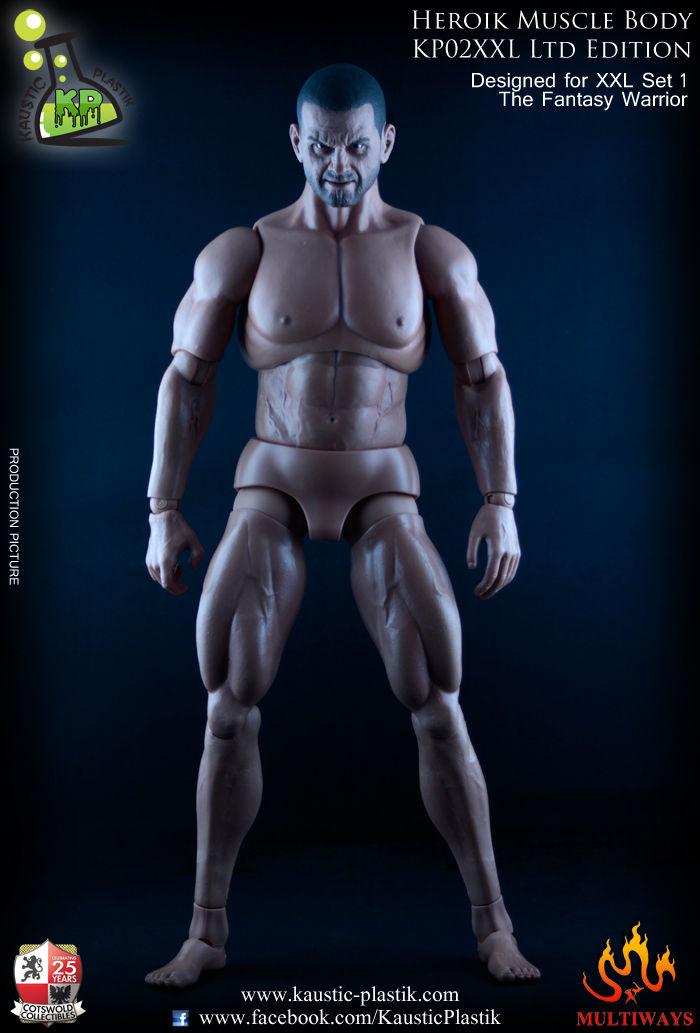 Kaustic Plastik 1/6 Heroik Muscle body KP02XXL-a Headless - Caucasian Tanned model Free shipping