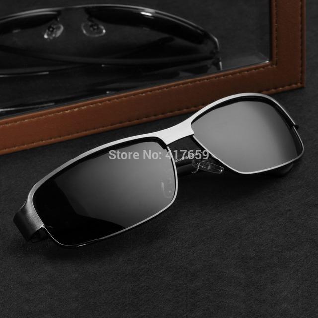 Алюминиево-магниевого сплава рама поляризованные очки мужская водителя зеркало открытый ...