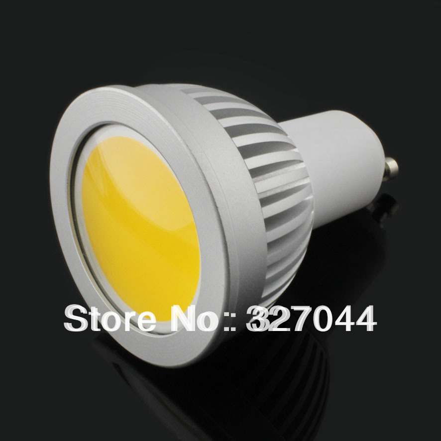 CPAM free shipping! 5w 500lm dimmable COB led screw gu10 e27 spotlight led bulb bulbs(China (Mainland))