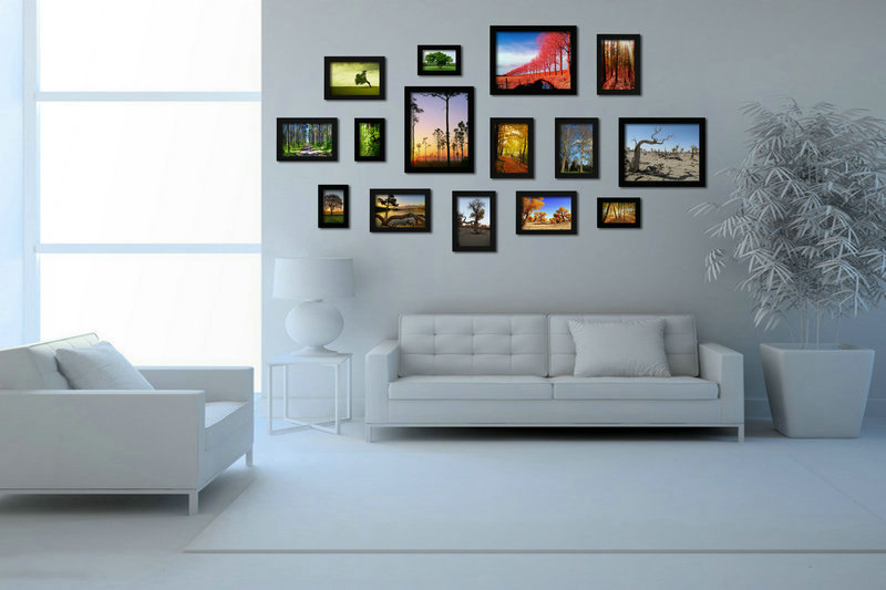 Wall Frames Set picture frame collection wall - webforfreaks