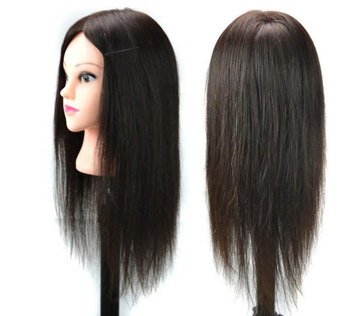 100% hair Practice Hairdressing Training Head Mannequin training head human hair training head