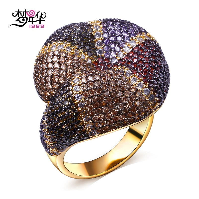 Dreamcarnival1989 Women's Rings Rhodium or Gold-Color Promise Ring Premium Quality Multi Colors Synthetic Cubic Zirconia Anillos(China (Mainland))
