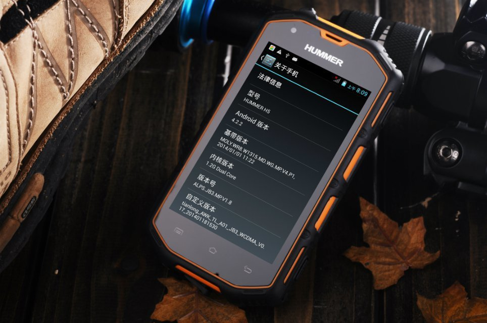 waterproof Ip67 smart phone Hummer H5 android dual sime dual core mtk6572 waterproof rugged phone outdoor waterproof by russian(China (Mainland))