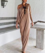 Good quality New Autumn style Women Maxi Dresses Long Sleeve Irregular Plus Size Oversize Loose Wrap Dress Ladies Vestidos(China (Mainland))