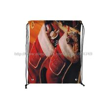 four pcs/lot father Christmas stocking printed red drawstring backpack xmas christmas decoration ornament foldable shopping bags(China (Mainland))