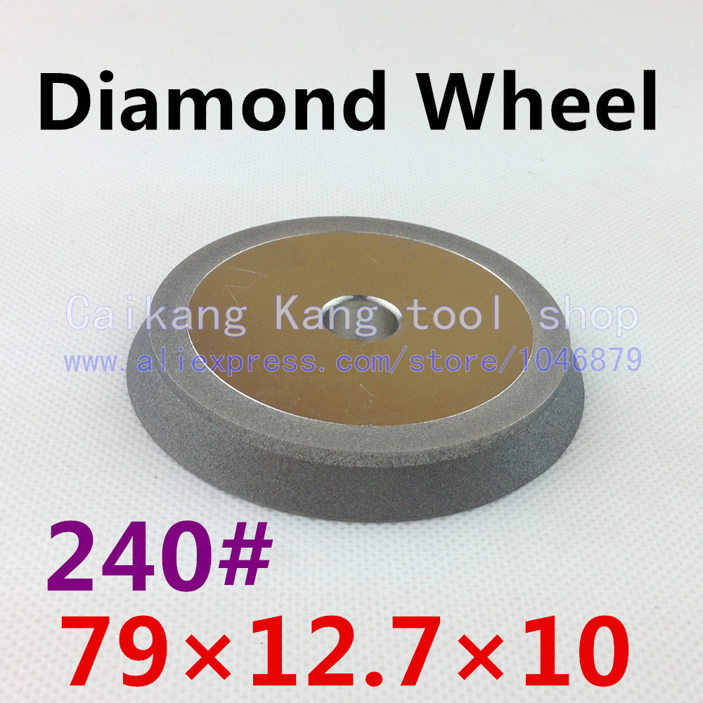 240 #. Diamond grinding wheel. Oblique angle of the diamond wheel. 45 degrees. Plating wheel. 79*12.7*10 . 240 #(China (Mainland))