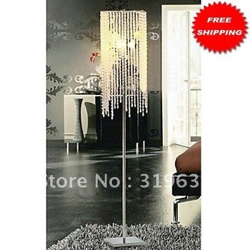 Free Shipping Crystal Beaded Floor Lights with 3 Lights