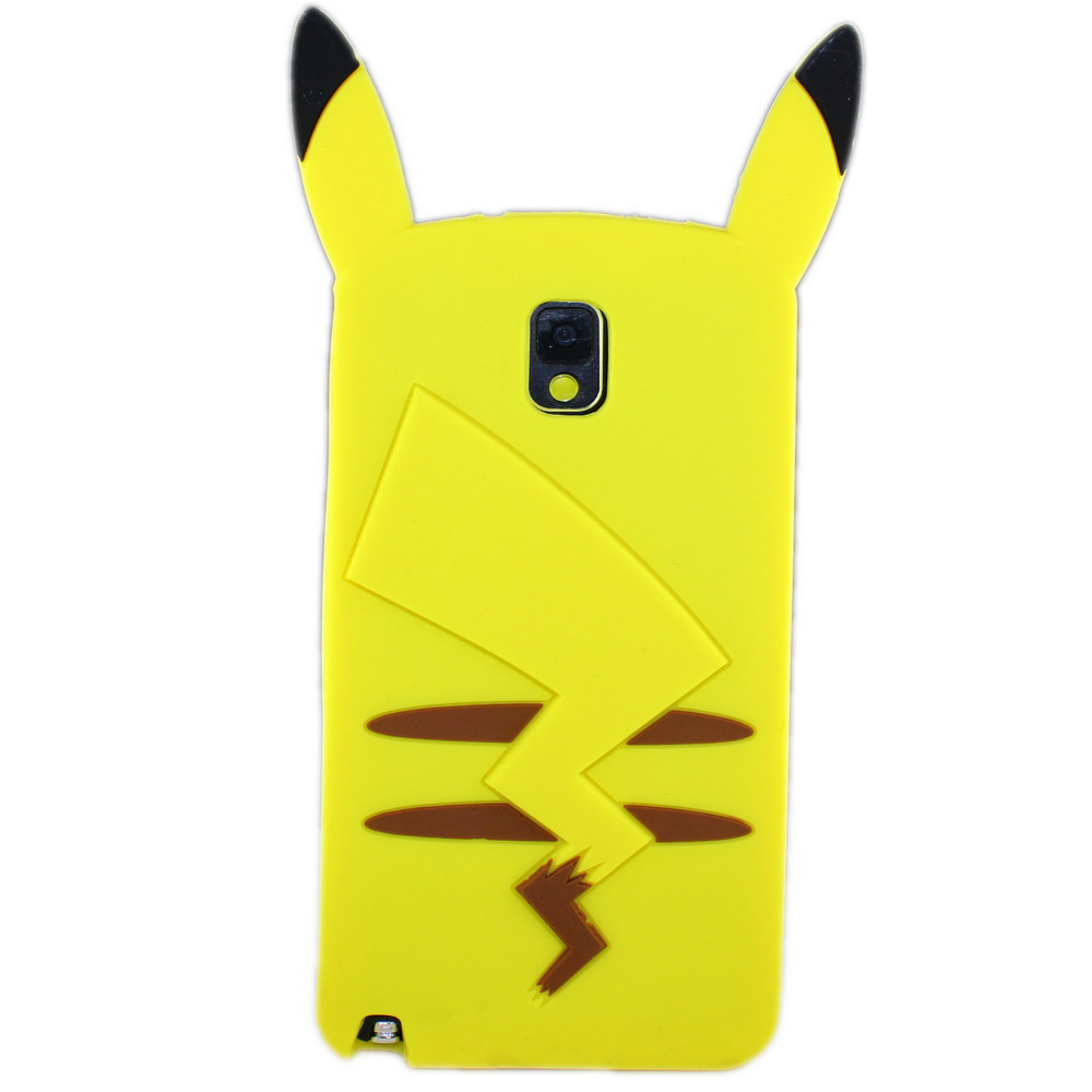 New Cute lovely cartoon Pikachu silicon Cell Phone cases cover For Samsung galaxy Note 3 phone accessories free shipping(China (Mainland))