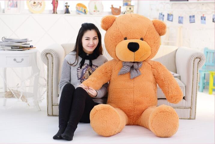 Giant Teddy Bear 220cm huge large plush toys children soft kid children baby doll big stuffed animals girl birthday gift(China (Mainland))