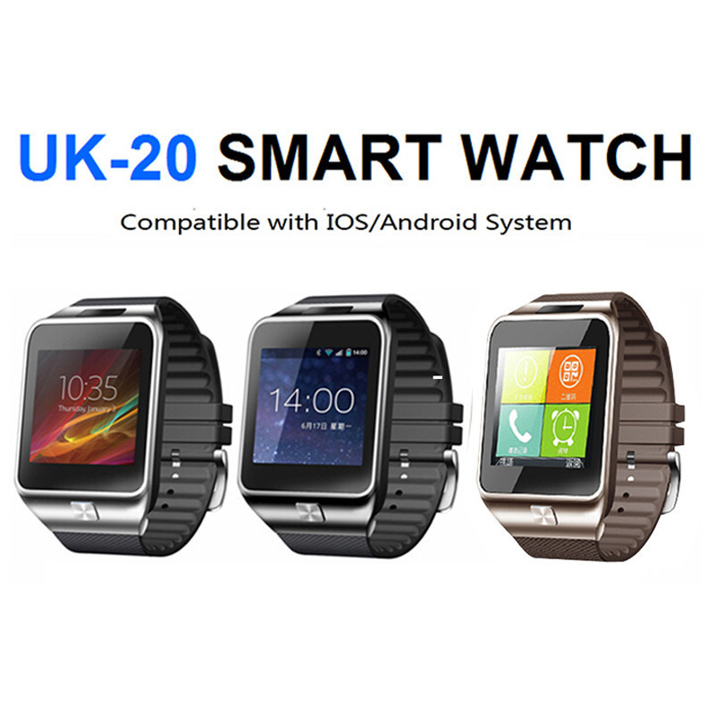 Mobile phone watch for iphone and android with passometer&call reminder&message reminder support english/russian/spanish(China (Mainland))