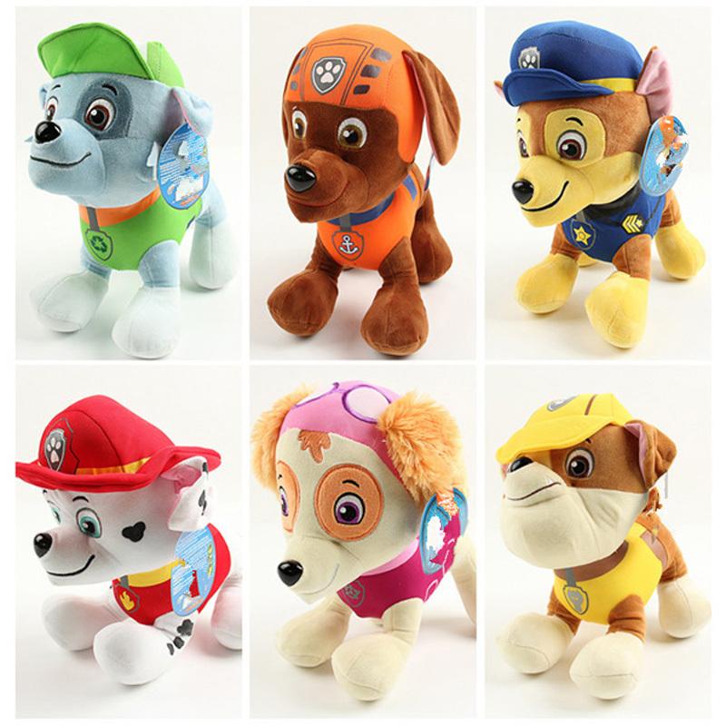 kids soft toys 20cm Patrol dog plush toy doll Marshall Rubble Chase Rocky Zuma Skye anime action figure birthday gifts jouets(China (Mainland))