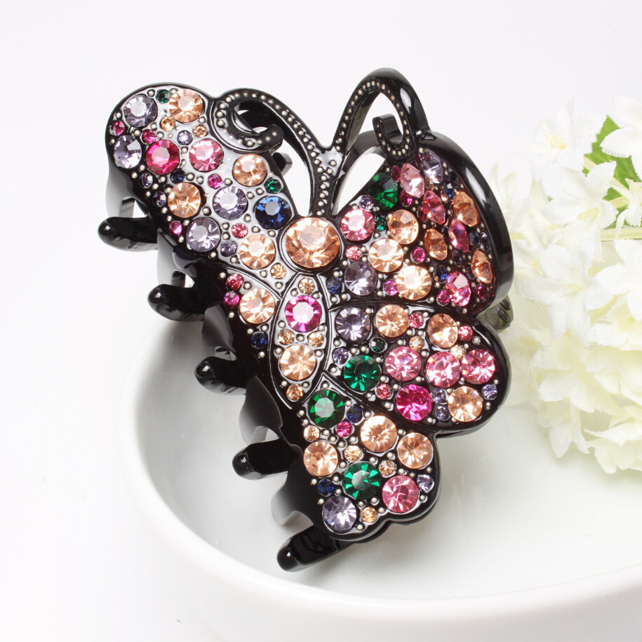 High Quality Brilliant Austria Rhinestone Hair Accessories Acrylic Hairpin Refinement Head Piece