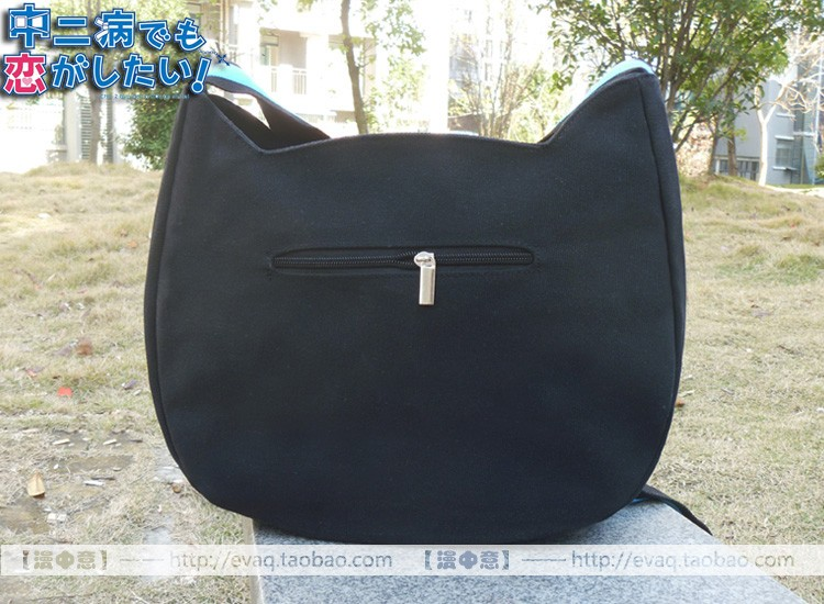Anime Chuunibyou Demo Koi ga Shitai! Shichimiya Satone Cafe Kichijoude Cat Cosplay Shoulder Bag Canvas School Messenger Bags