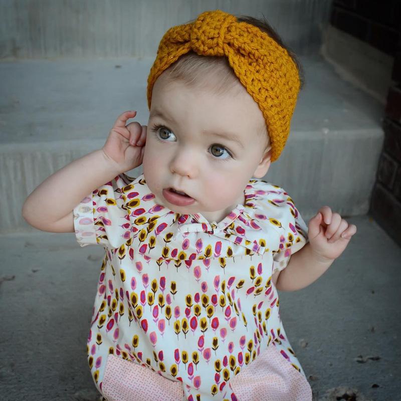 2016 Fashion 10pcs/lot Children Bohemia Knitted Headwrap Kids turban Knitting wool crochet headband ear warmers for Baby Grils(China (Mainland))