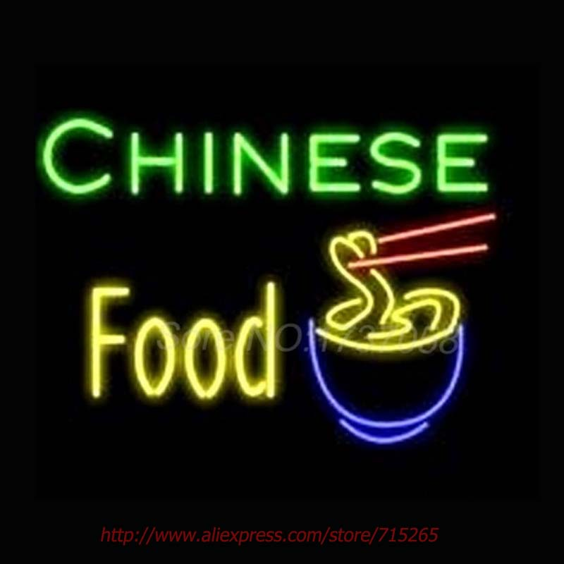Chinese Food Nudle Neon Sign Store Display Neon Bulbs Real Glass Tube Gift sign Recreation Room advertisement sign 24x18(China (Mainland))