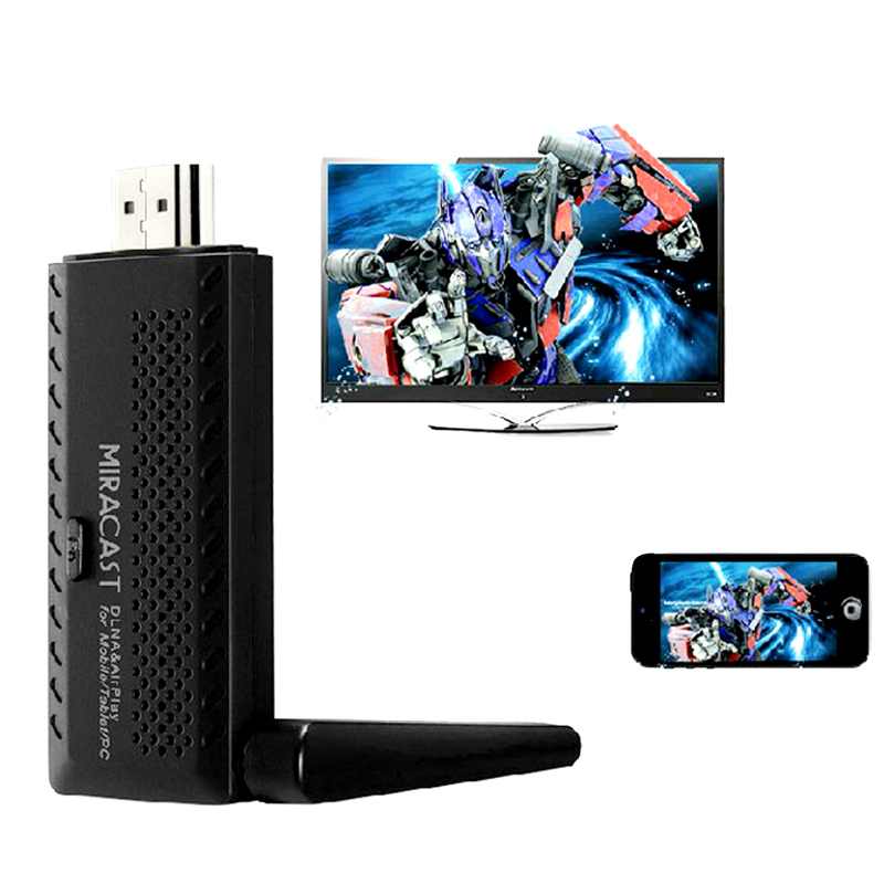 Hot Single core ARM Cortex-A9DLNA Airplay WiFi 1080P TV Stick Display Receiver for Mobile Tablet PC Miracast HDMI TV Dongle(China (Mainland))