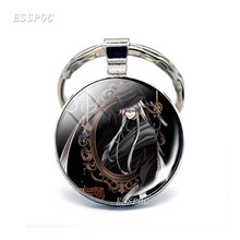 Luffy japonês Anime Naruto Attack on Titan Death Note Bleach Bleach Black Butler Death Note Tokyo Ghoul Keyring(China)