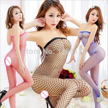 Hot Sexy Lace Neck Fishnet Body Stocking Sexy Lingerie Nets Clothings Sex Costumes Black Mesh Fishnet Open Crotch Bodystocking(China (Mainland))