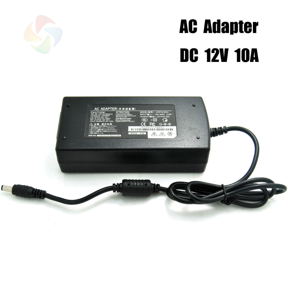 High quality AC power supply Adapter to DC 12V 10A 120w,input AC100-240V 50-60H .with FCC,CE standard free shipping(China (Mainland))