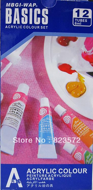 12 ml blue  series acylic color set nail art paint   Acrylic paint+free shipping