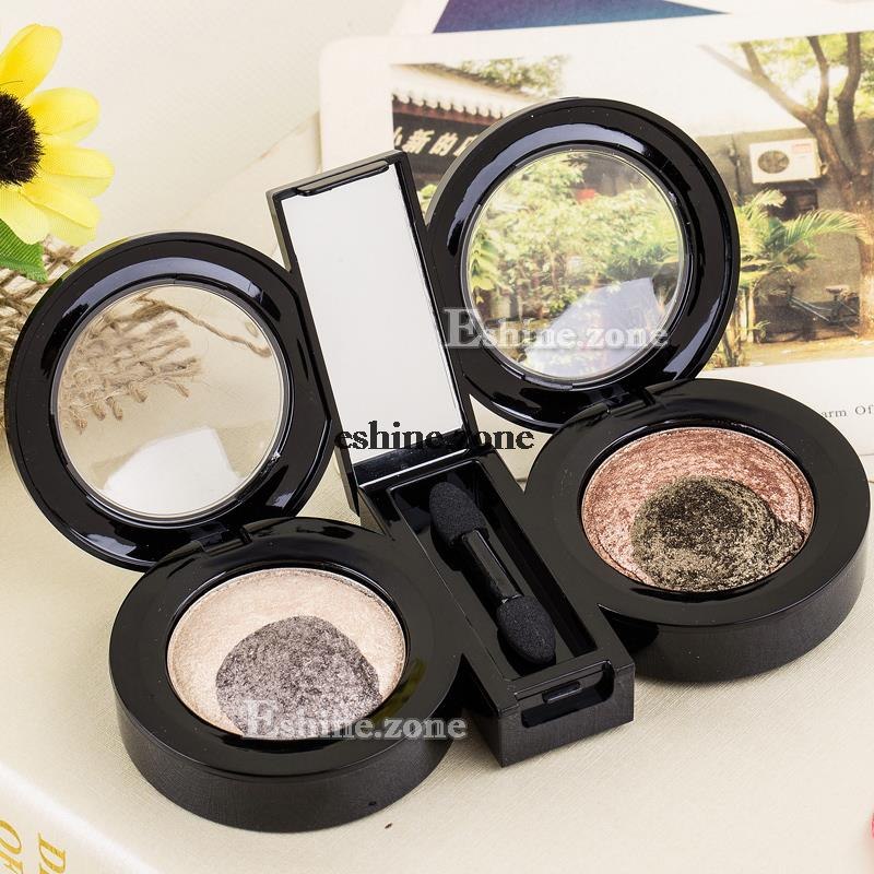 4Color Highlight Baked Eyeshadow Cosmetic Makeup Warm Neutral Eye Shadow Silk(China (Mainland))
