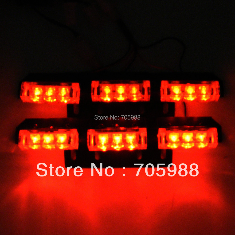 RED 18 LED Emergency light led Warning light  Signal Strobe Lights(China (Mainland))